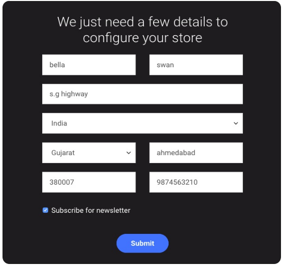 Builderfly store configuration