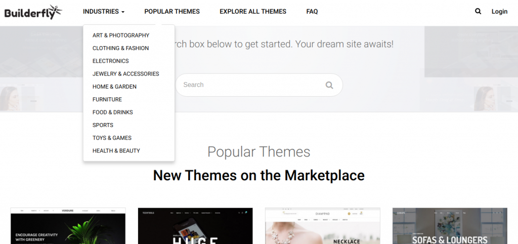 Select your business theme