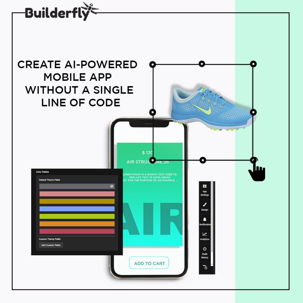 Create AI powered mobile apps with Builderfly, Create AI-Powered eCommerce apps