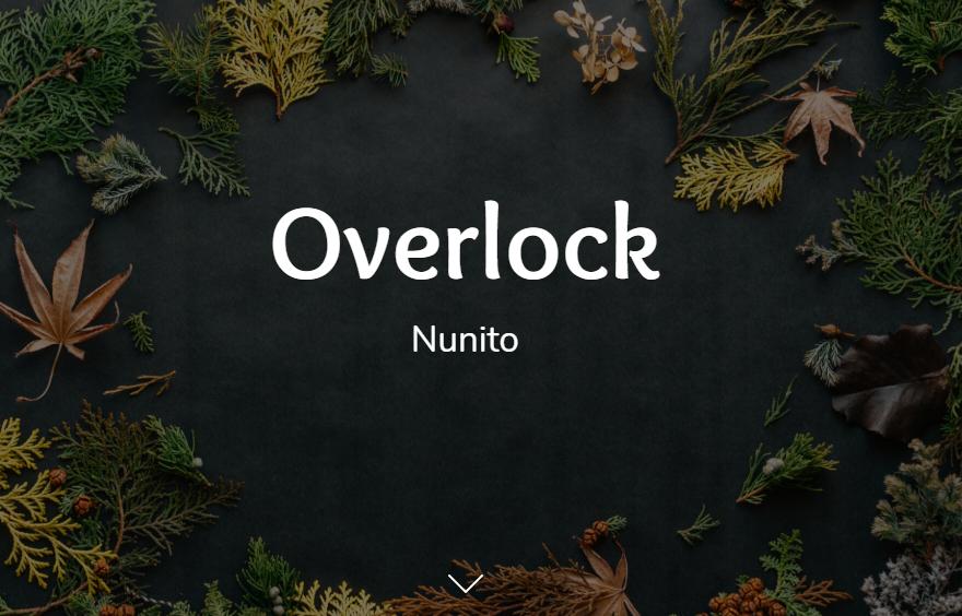 Overlock and Nunito