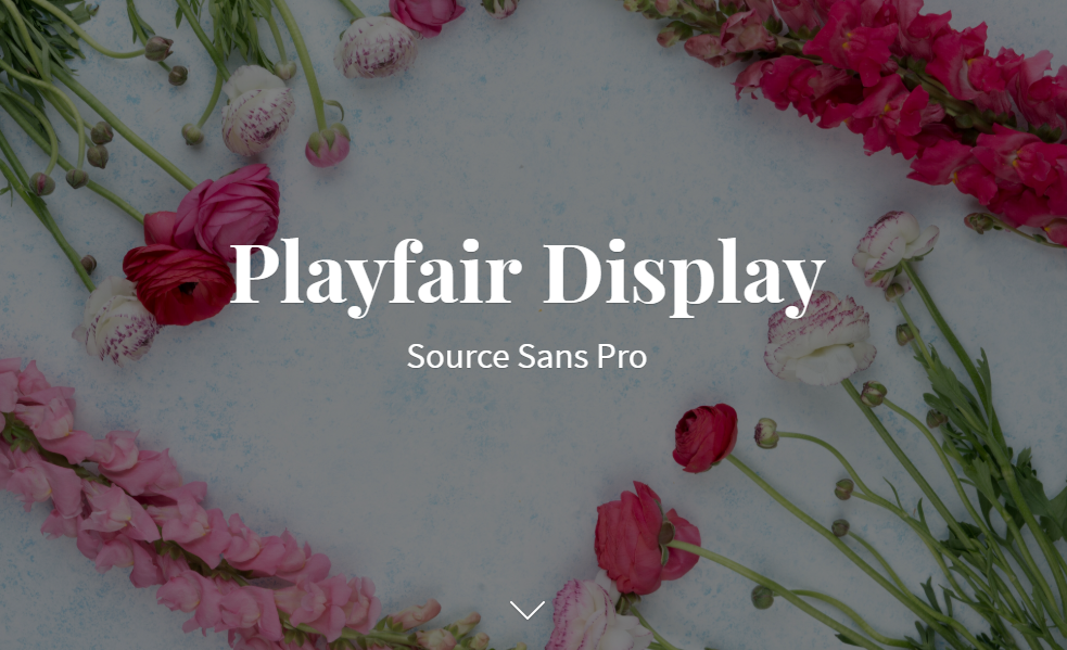 Playfair Display and Source Sans Pro