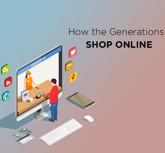 How the Generations Shop Online - Find here the shopping trends among different age groups