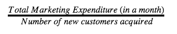 customer aquisation cost