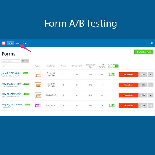 Form A/B Testing