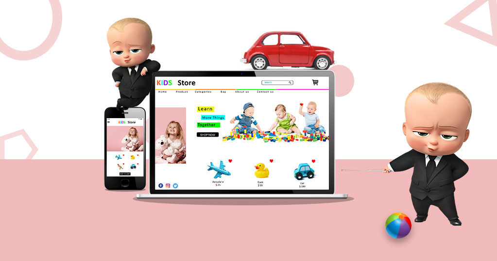 Contrast ways with sell toys on the web