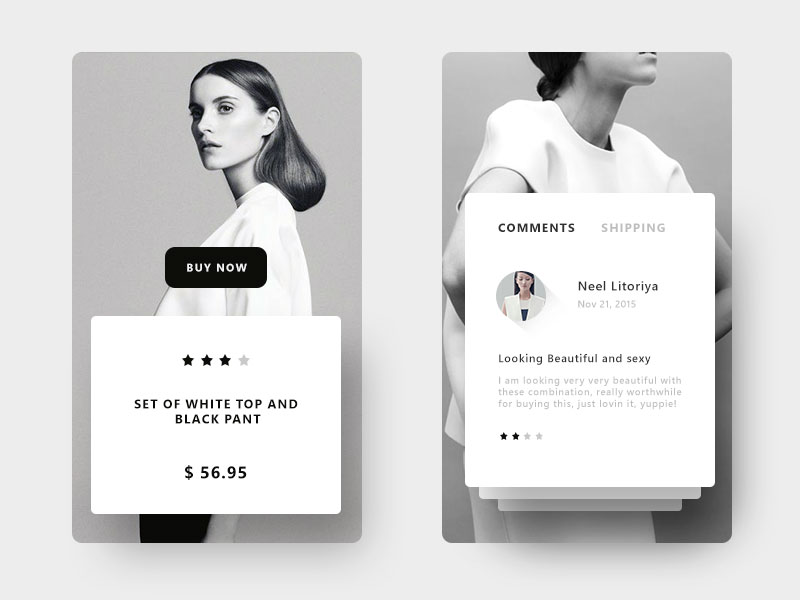 product display shopping ios app