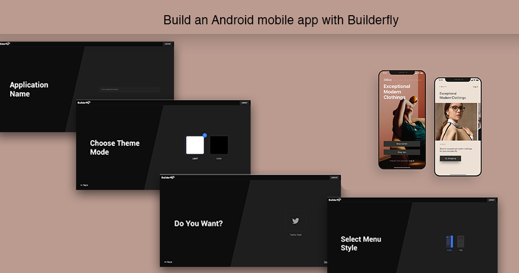 How to build an Android mobile app with Builderfly
