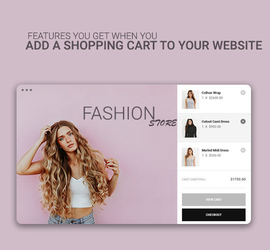 Features You get when you add a Shopping cart to your website