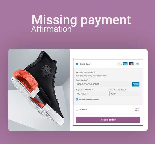 Missing payment affirmation