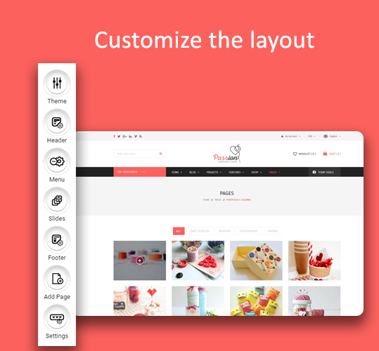 customize the layout