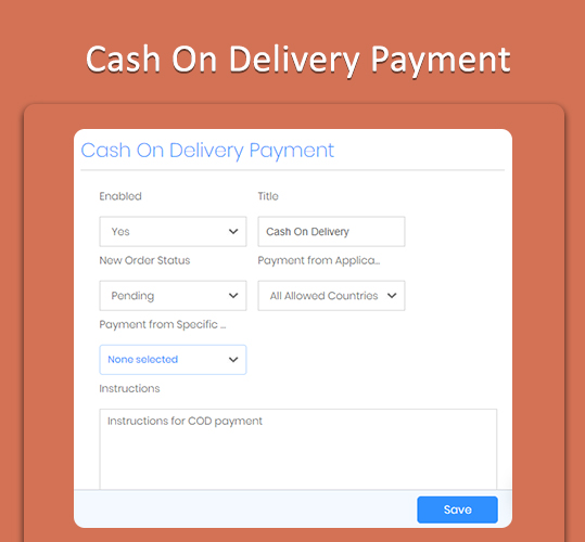 Cash On Delivery Payment