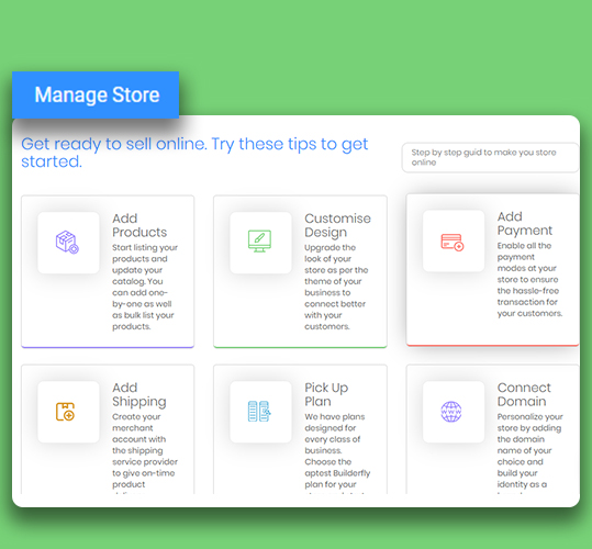 Manage Store