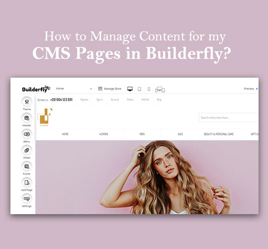How to Manage Content for my CMS Pages in Builderfly