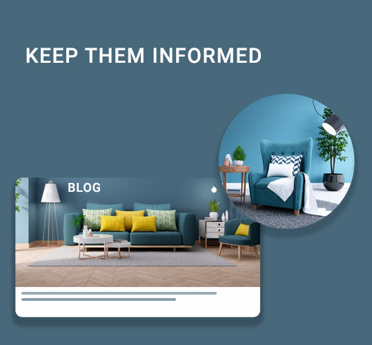 Keep them Informed to target home decor customers