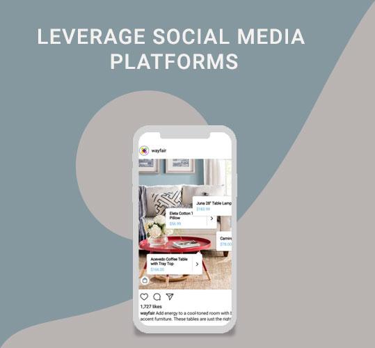 leverage social media platforms to target home decor customers
