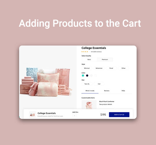 Adding Products to the Cart