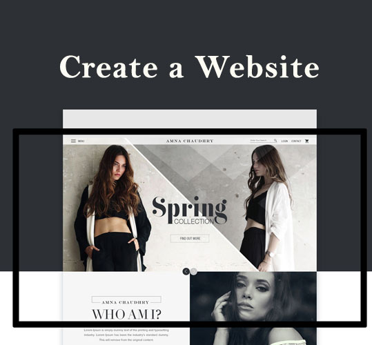 Create a Website for fashion ecommerce marketing