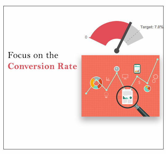 Focus on the conversion rate