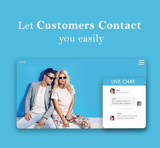 Let Customers Contact you easily for better marketing of fashion ecommerce