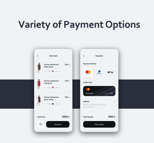 Variety of Payment Options